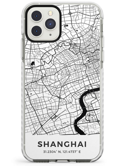 Map of Shanghai, China Impact Phone Case for iPhone 11 Pro Max