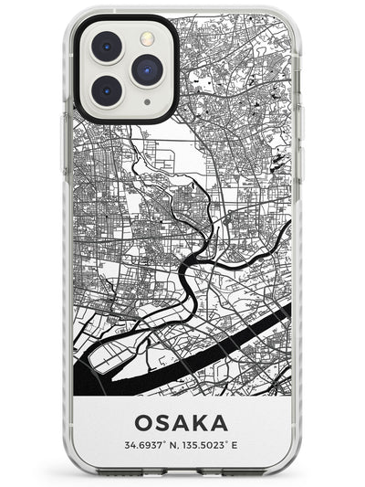 Map of Osaka, Japan Impact Phone Case for iPhone 11 Pro Max
