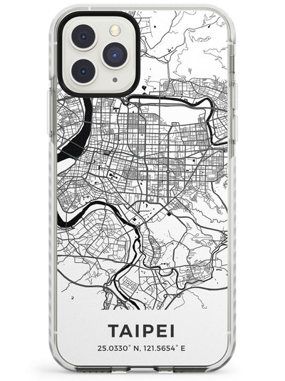 Map of Taipei, Taiwan Impact Phone Case for iPhone 11 Pro Max
