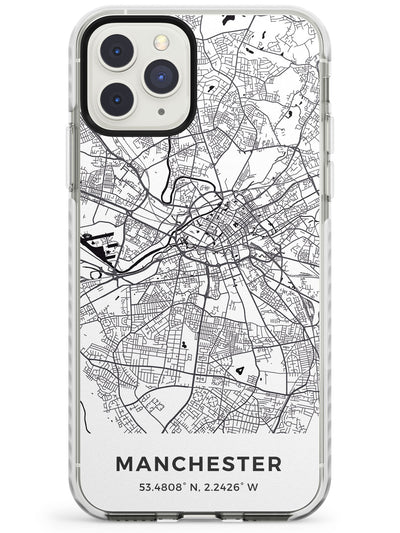 Map of Manchester, England Impact Phone Case for iPhone 11 Pro Max