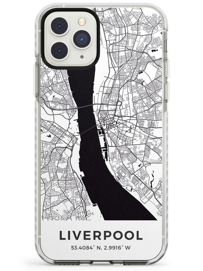 Map of Liverpool, England Impact Phone Case for iPhone 11 Pro Max