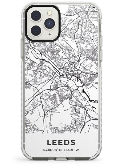 Map of Leeds, England Impact Phone Case for iPhone 11 Pro Max