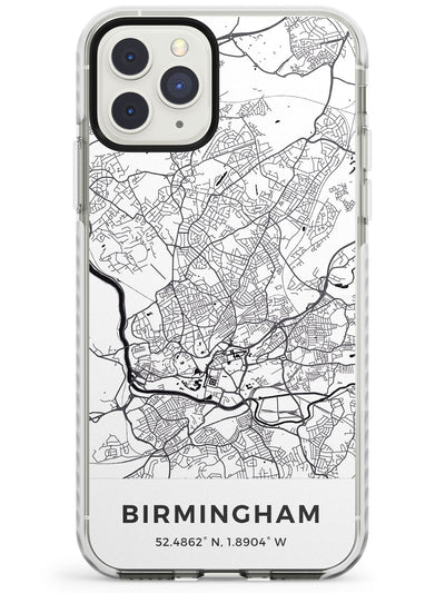Map of Birmingham, England Impact Phone Case for iPhone 11 Pro Max