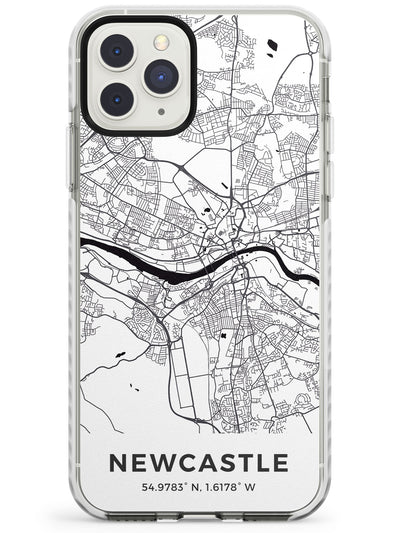 Map of Newcastle, England Impact Phone Case for iPhone 11 Pro Max