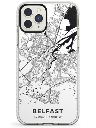 Map of Belfast, Northern Ireland Impact Phone Case for iPhone 11 Pro Max