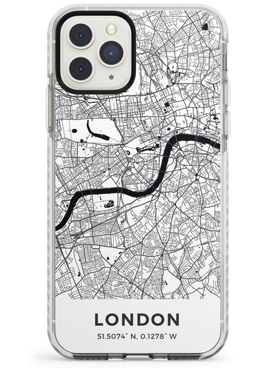 Map of London, England Impact Phone Case for iPhone 11 Pro Max