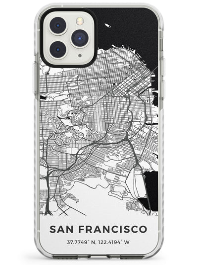 Map of San Francisco, California Impact Phone Case for iPhone 11 Pro Max