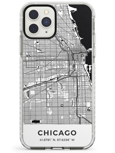Map of Chicago, Illinois Impact Phone Case for iPhone 11 Pro Max