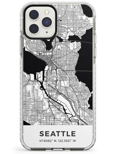 Map of Seattle, Washington Impact Phone Case for iPhone 11 Pro Max