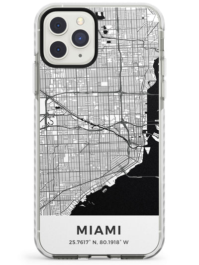 Map of Miami, Florida Impact Phone Case for iPhone 11 Pro Max
