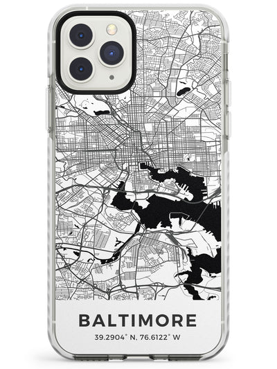 Map of Baltimore, Maryland Impact Phone Case for iPhone 11 Pro Max