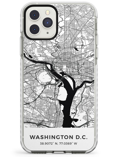 Map of Washington, D.C. Impact Phone Case for iPhone 11 Pro Max