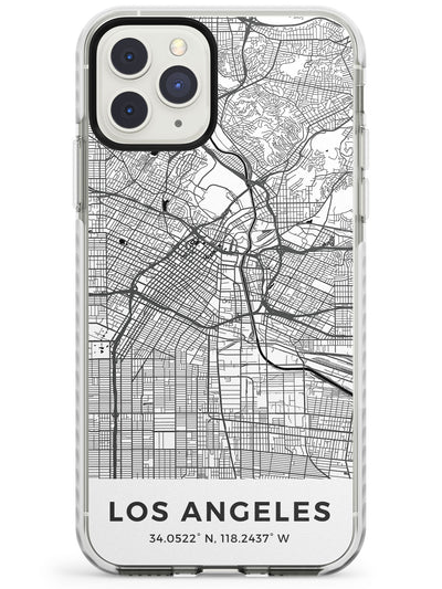 Map of Los Angeles, California Impact Phone Case for iPhone 11 Pro Max