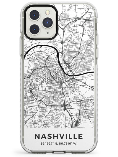 Map of Nashville, Tennessee Impact Phone Case for iPhone 11 Pro Max