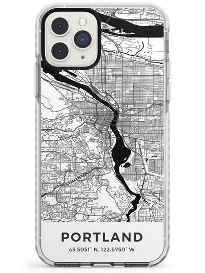 Map of Portland, Oregon Impact Phone Case for iPhone 11 Pro Max