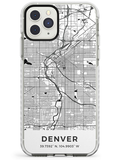 Map of Denver, Colorado Impact Phone Case for iPhone 11 Pro Max