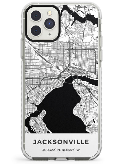 Map of Jacksonville, Florida Impact Phone Case for iPhone 11 Pro Max