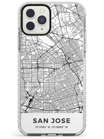 Map of San Jose, California Impact Phone Case for iPhone 11 Pro Max