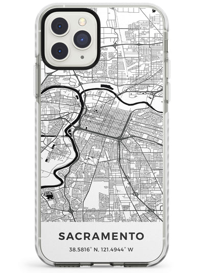 Map of Sacramento, California Impact Phone Case for iPhone 11 Pro Max