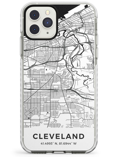 Map of Cleveland, Ohio Impact Phone Case for iPhone 11 Pro Max