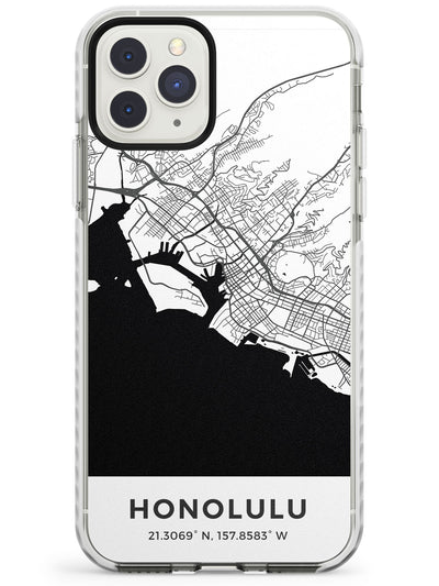 Map of Honolulu, Hawaii Impact Phone Case for iPhone 11 Pro Max