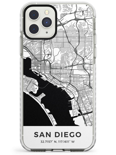 Map of San Diego, California Impact Phone Case for iPhone 11 Pro Max