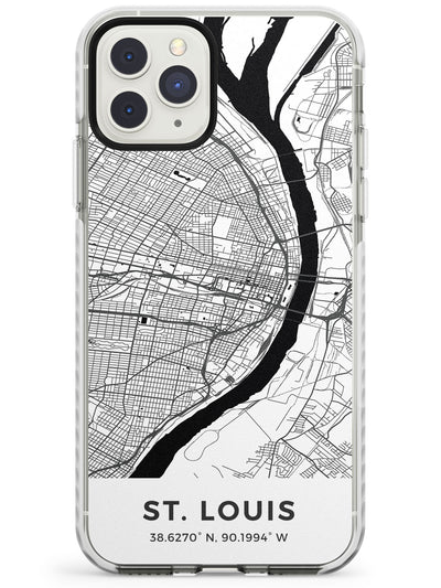 Map of St. Louis, Missouri Impact Phone Case for iPhone 11 Pro Max