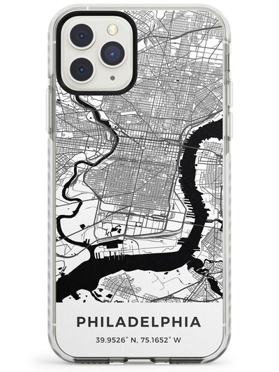 Map of Philadelphia, Pennsylvania Impact Phone Case for iPhone 11 Pro Max