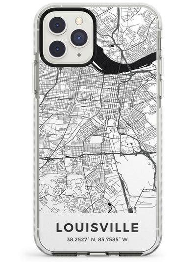 Map of Louisville, Kentucky Impact Phone Case for iPhone 11 Pro Max