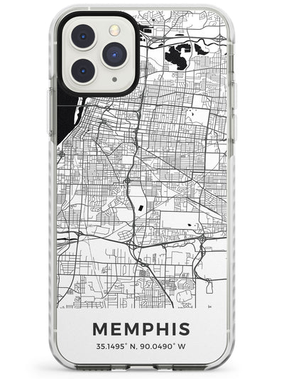 Map of Memphis, Tennessee Impact Phone Case for iPhone 11 Pro Max