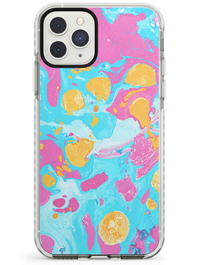 Turquoise, Pink & Orange - Marbled iPhone Case  Impact Case Phone Case - Case Warehouse