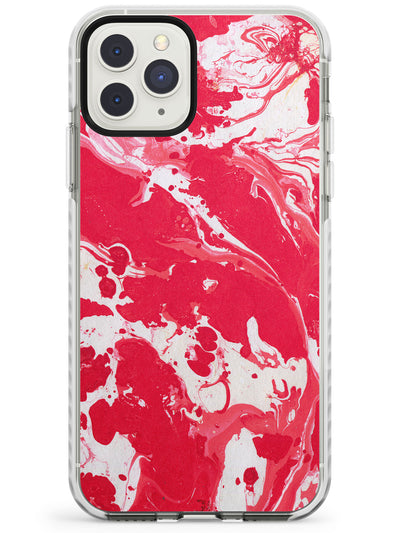 Red & White - Marbled Paper iPhone Case  Impact Case Phone Case - Case Warehouse