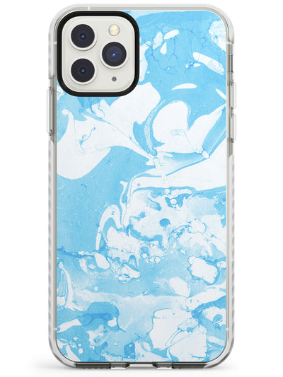 Pale Blue Marbled Paper Pattern Impact Phone Case for iPhone 11 Pro Max