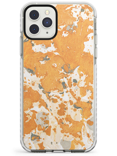 Orange Marbled Paper Pattern Impact Phone Case for iPhone 11 Pro Max