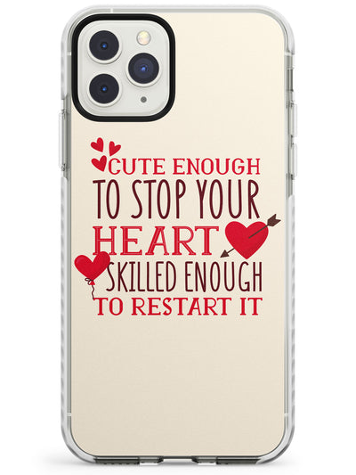 Medical Design Cute Enough to Stop Your Heart Impact Phone Case for iPhone 11 Pro Max