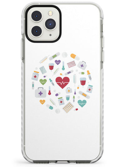 Medical Inspired Design Medical Icons Impact Phone Case for iPhone 11 Pro Max