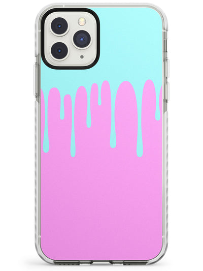 Melted Effect: Teal & Pink iPhone Case Impact Phone Case Warehouse 11 Pro Max