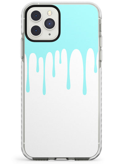 Melted Effect: Teal & White iPhone Case Impact Phone Case Warehouse 11 Pro Max