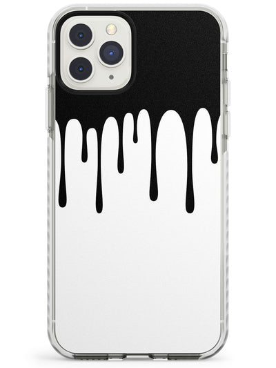 Melted Effect: Black & White iPhone Case Impact Phone Case Warehouse 11 Pro Max