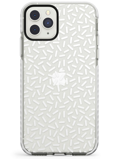 White Sprinkles Memphis Retro Pattern Design Impact Phone Case for iPhone 11 Pro Max
