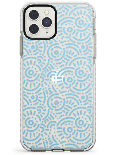 Light Blue Pattern Memphis Retro Pattern Design Impact Phone Case for iPhone 11 Pro Max