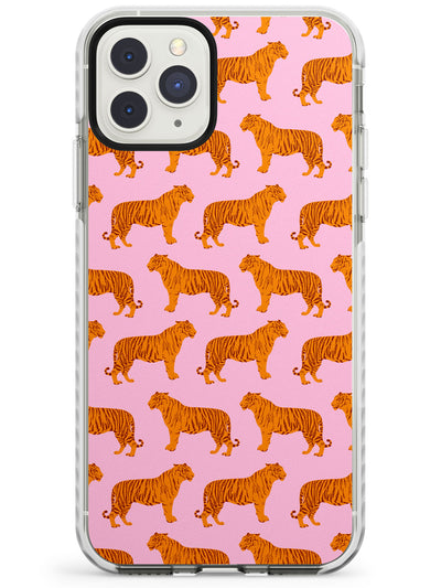 Tigers on Pink Pattern Impact Phone Case for iPhone 11 Pro Max