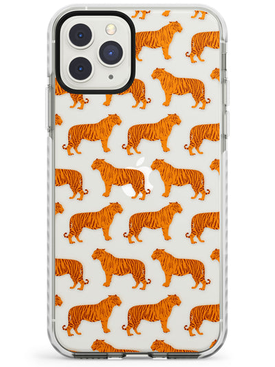 Tigers on Clear Pattern Impact Phone Case for iPhone 11 Pro Max