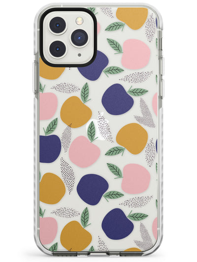 Colourful Apples Fruity & Fun Pattern (Clear)  Impact Phone Case for iPhone 11 Pro Max