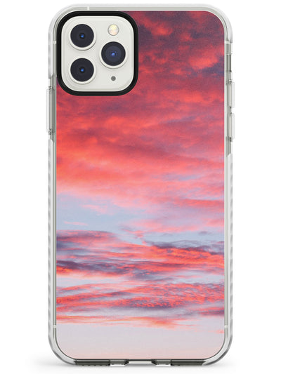 Pink Cloudy Sunset Photograph Impact Phone Case for iPhone 11 Pro Max