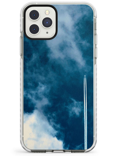 Plane in Cloudy Sky Photograph Impact Phone Case for iPhone 11 Pro Max