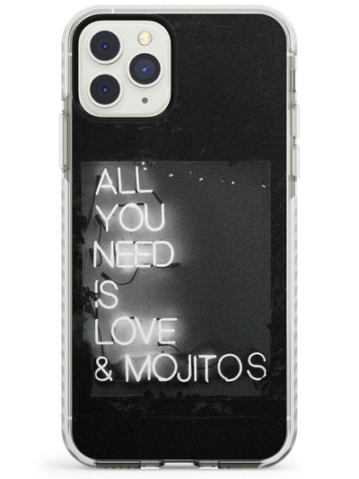 All You Need is Love & Mojitos Neon Sign Impact Phone Case for iPhone 11 Pro Max