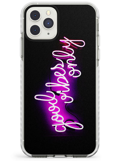 Good Vibes Only Pink Neon iPhone Case  Impact Case Phone Case - Case Warehouse