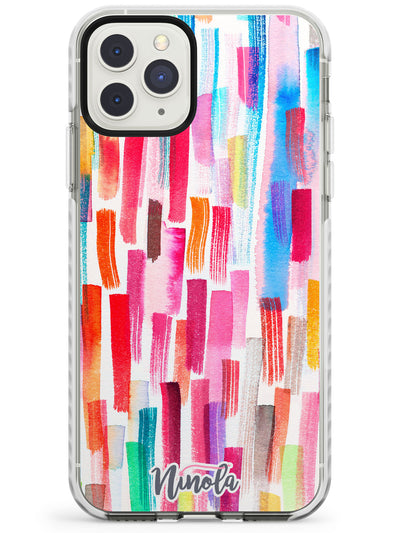 Colorful Brushstrokes Impact Phone Case for iPhone 11 Pro Max