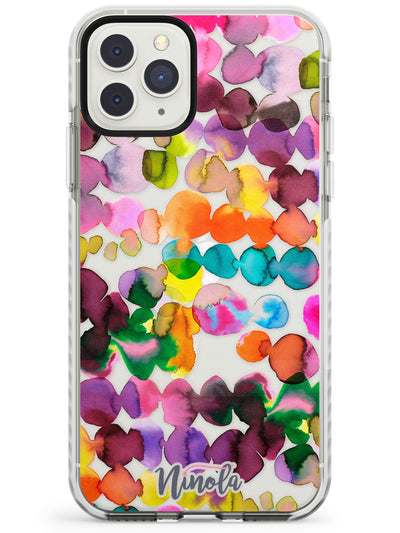 Ink Bleeding Dots Impact Phone Case for iPhone 11 Pro Max